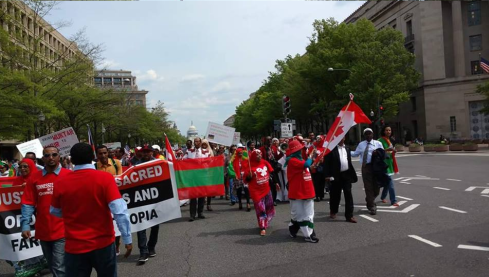 #OromoProtests in solidarity rally in DC, 19 April 2016 p2