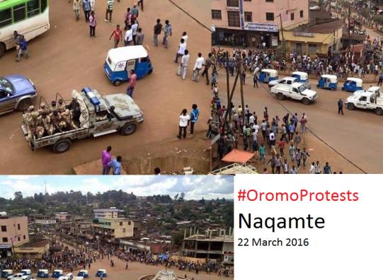 #OromoProtests @Naqamte, E. Wallaggaa, W. Oromia, 22 March 2016