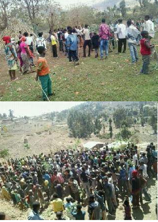 #OromoProtests, residents of rural villages marching towards Dadar town, East Hararge, Oromia 12 March 2016