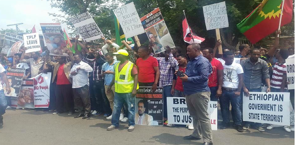 #OromoProtests, South Africa, Oromo global solidarity rally, 14 March 2016 p1