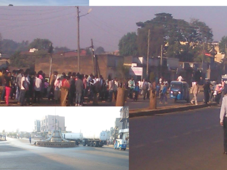 #OromoProtests, taxi and other drivers go on strike in Naqamte town, East Walaga March 4, 2016. They are demanding a the military withdraw from the city and halt the daily abuse