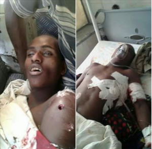 #OromoProtests‬ (1st March 2016) in Qarsaa town. Oromo nationals Muraadii and Kadir Siraj Ahmed killed by Agazi