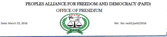 Peoples alliances for freedom and democracy, Ethiopia, Horn of Africa p1
