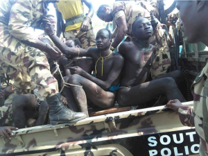 Suruma people of the Omo Valley are being tortured by fascist Ethiopia (Agazi) forces because they protested their land being taken for Sugar plantation. p3