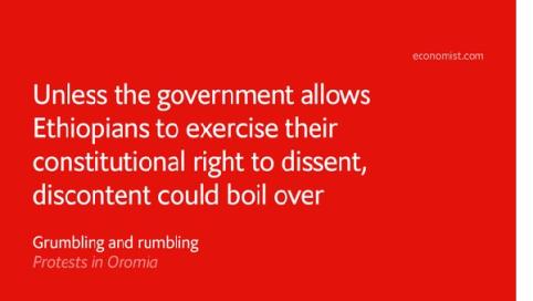 The Economist on #OromoProtests