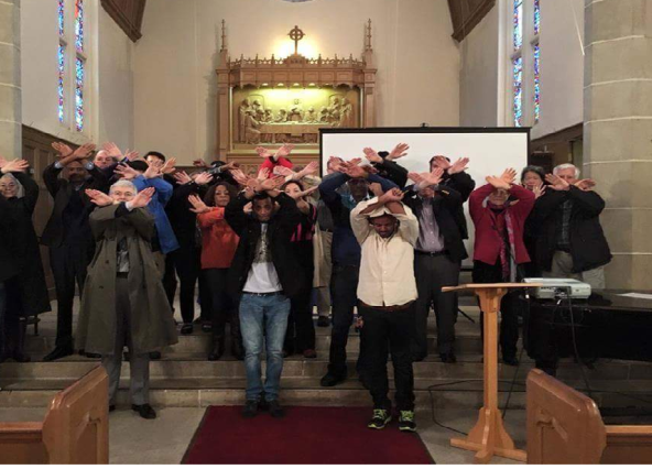 worship at San Francisco Theological Seminary in Solidarity with Oromo Protest. Most of people you see here are local church leaders, Pastor and Professors. 10 March 2016