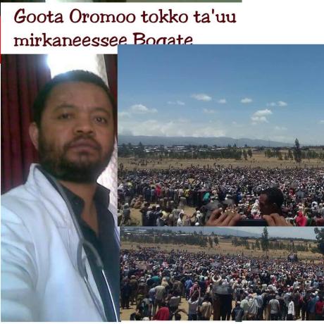 Goota Oromoo tokko ta'u mrkaneessee boqate, Gataa addaa, Du'a doktora Oromoodhaa, Doktor Amiin Abbaa Gumbul ilaalchisee p1.png