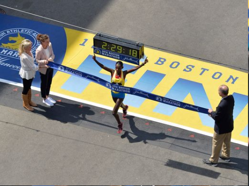 OROMO ATHLETES DOUBLE AT BOSTON MARATHON WITH WINS FOR HAYLE AND BAYSA. 18 APRIL 2016. p2