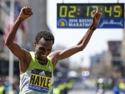 OROMO ATHLETES DOUBLE AT BOSTON MARATHON WITH WINS FOR HAYLE AND BAYSA. 18 APRIL 2016. p3