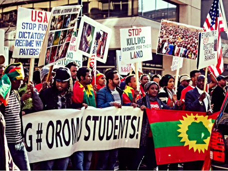 OROMO STUDENTS SOLIDARITY PROTEST IN WASHINGTON, D.C.
