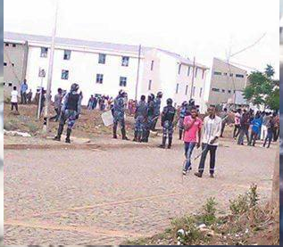 #OromoProtests at Awaro Campus, Ambo, Oromia, 11 and April 2016 p1