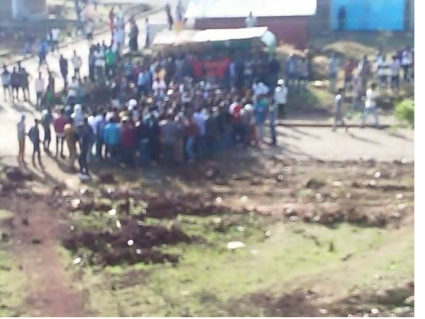 #OromoProtests at Awaro Campus, Ambo, Oromia, 11 and April 2016