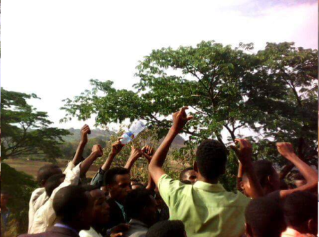 #OromoProtests in Limmuu Saqaa, Jimmaa, Oromia, 7 April 2016 p1