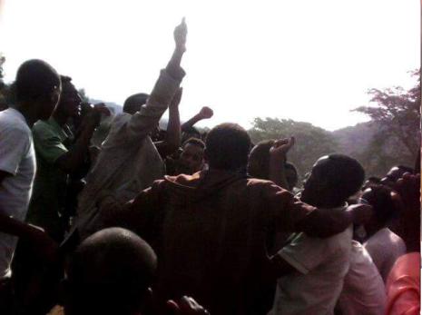 #OromoProtests in Limmuu Saqaa, Jimmaa, Oromia, 7 April 2016 p2