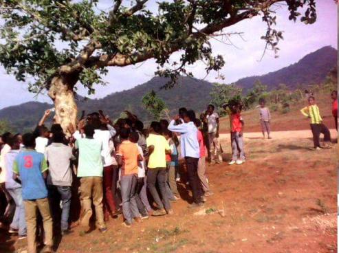 #OromoProtests in Limmuu Saqaa, Jimmaa, Oromia, 7 April 2016