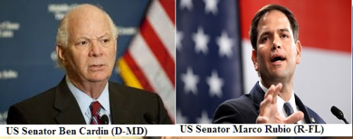U.S. Senators Marco Rubio (R-FL) and Ben Cardin (D-MD) today introduced a resolution with 11 other senators condemning the lethal violence used by the government of Ethiopia against  civil society