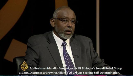 Abdirahman Mahdi of ONLF