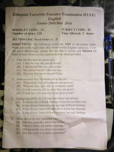 Ethiopian 12th grade for University entrance exam has been leaked and cancelled p2