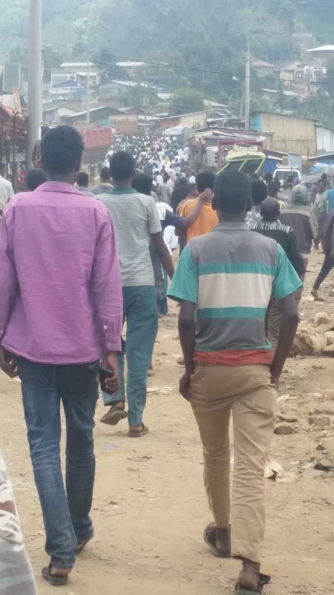 OromoProtests in Massalaa town, Hararghe, Oromia, 19 May 2016