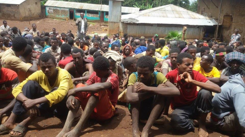 #OromoProtests, some of the over 5000 Oromo political prisoners in Tolay Concentration camp. 9 May 2016 p1