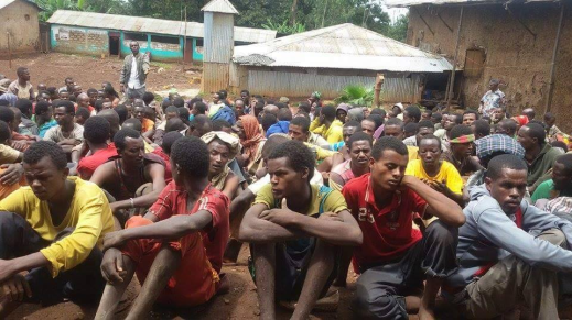 #OromoProtests, some of the over 5000 Oromo political prisoners in Tolay Concentration camp. 9 May 2016 p2