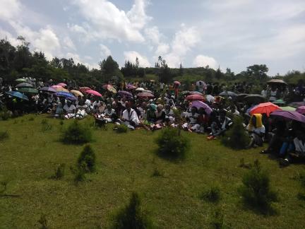 Spring Celebration, Irreecha Arfaasaa, Jimmaa, Tulluu Deeddee, Oromia 15 May 2016