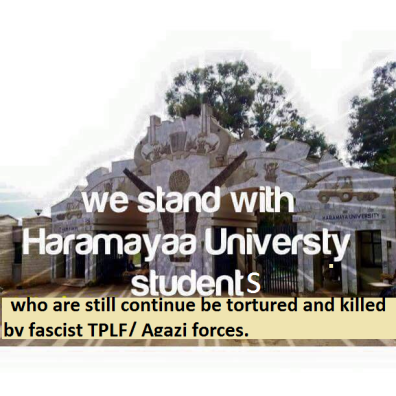 We all stand with Haramaya university students