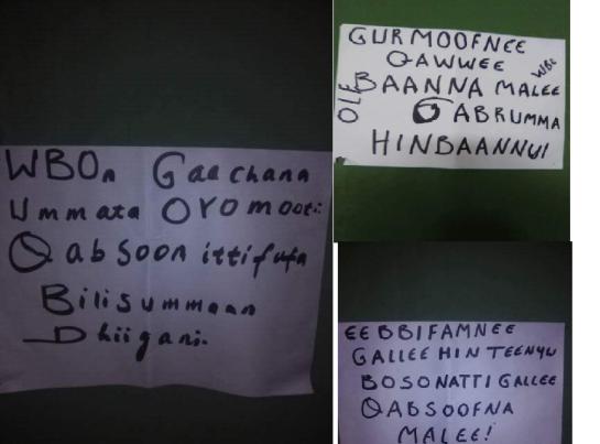 barattoonni eebbifamtoonni Oromoo yuunivarsitii garaa garaa dhaadannoo adda addaa maxxansaa jiru. #OromoProtests 20 June 2016
