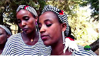 Beautiful Oromo women at Oromo wedding event in Noolee Kabbaa, Oromia. June 2016 picture credited to OBS