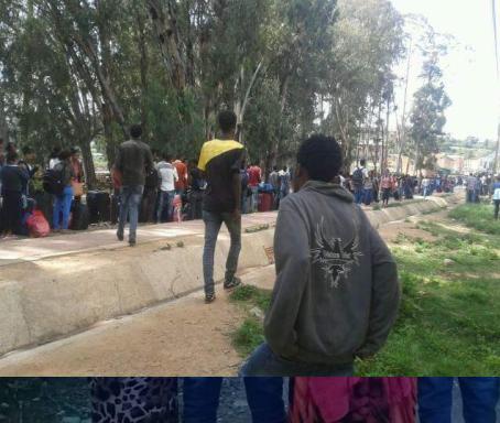 Fascist Ethiopian regime expelled all 1st year Engineering students, Haramaya University, 3 June 2016