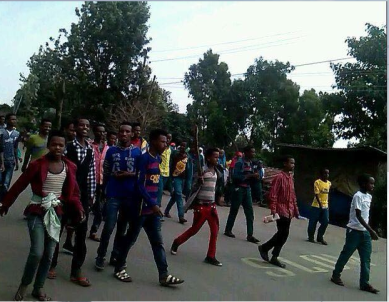 #Oromo Protests, Qobboo town, Dadar, Hararghe, Oromia, 20 June 2016