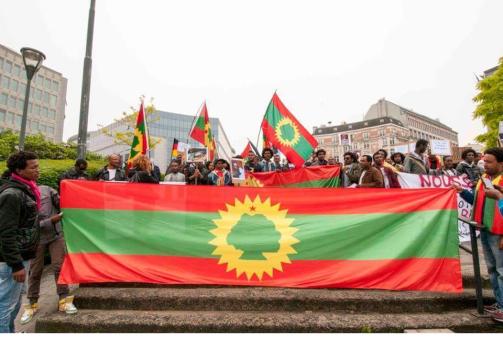 #OromoProtests solidarity rally in Brusells, Beligium, 3 June 2016 p2