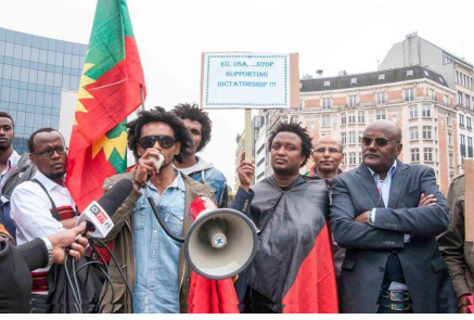 #OromoProtests solidarity rally in Brusells, Beligium, 3 June 2016 p3