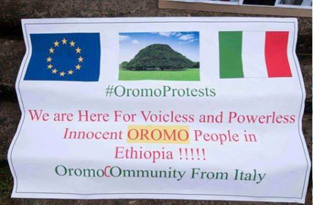#OromoProtests solidarity rally in Brusells, Beligium, 3 June 2016 p4