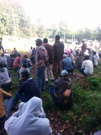 residents Qarsa and Kontoma villages in Lafto Subcity of Addis Ababa protessting evictions, 9 June 2016. p2