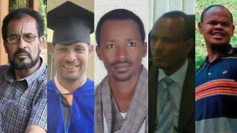 Bekele Gerba, Dejene Tafa, Desta Dinka, Addisu Bulala, Oromo political prisoners in hunger strike 22 July, 2016