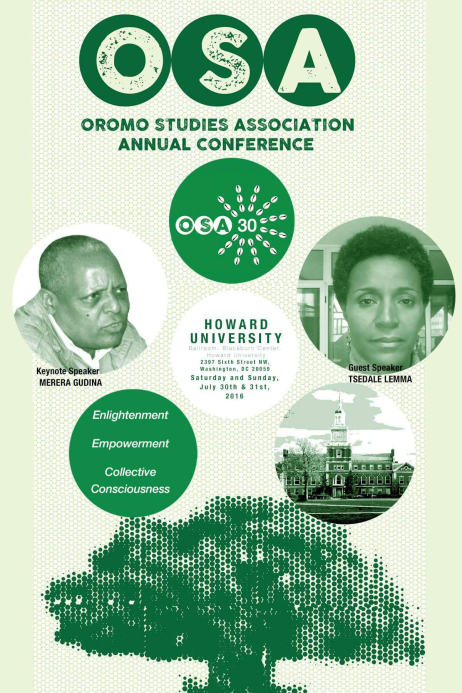 Oromo Studies Association Annual Conference 2016 key note speaker, Dr. Merera