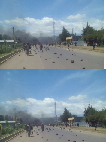 #OromoProtests 26 July 2016 in Qacama Caree, Dodola, Arsi, Oromia.