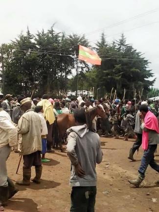 #OromoProtests in Boni town, Jaldu, Oromia, 19 July 2016