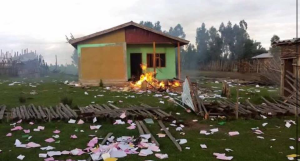 #OromoProtests in Tijo-Waqantera town in Gadab Asasa district, West Arsi (Oromia) destroyed every fascist Ethiopia's regime local office they could find. 30 July 2016. p3