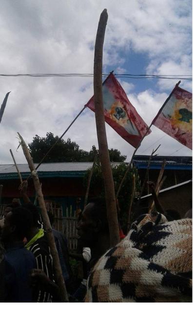 #OromoProtests, Lajjee town, Adaabbaa, Arsi, Oromia, 29 July 2016