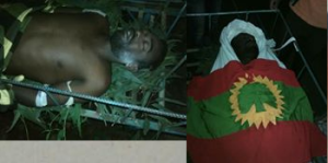 Aman Aliyii Xaha, Oromo national was shot at gun point by fascsit Ethiopia's regime forces on 6 August Grand #OromoProtests and died on 20 August 2016