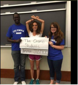 Columbia university students in solidarity with #OpromoProtests say the Oromo students deserve justice, 22nd August 2016