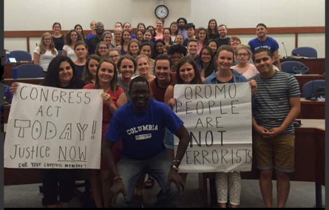 Columbia University students in USA in solidarity with #OromoProtests calling Congress to act now for Oromo people justice p3