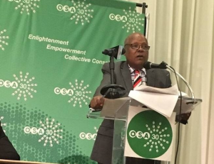 Dr. Merera Gudina at OSA Annual Conference, 30 July 2016, Howard University