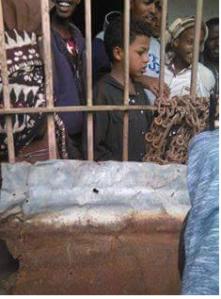 Fascist Ethiopia's  regime's  detaining and torturing Oromo children. This photo was taken at Iyasu IV prison in Gara Mulata, East Hararge, Oromia. 13 August 2016
