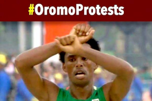 Feyisa Lelisa Rio Olympian and world icon of #OromoProtests