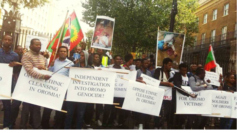 Grand #OromoProtests Global Solidarity Rally, 16 August 2016 Held in London 13
