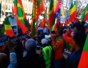 Grand #OromoProtests Global solidarity Rally Held in Melbourne, Australia, 18 August 2016. p2
