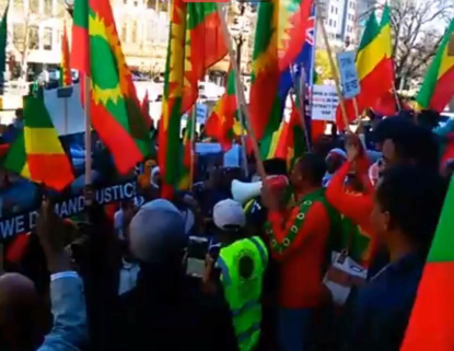 Grand #OromoProtests Global solidarity Rally Held in Melbourne, Australia, 18 August 2016. p2